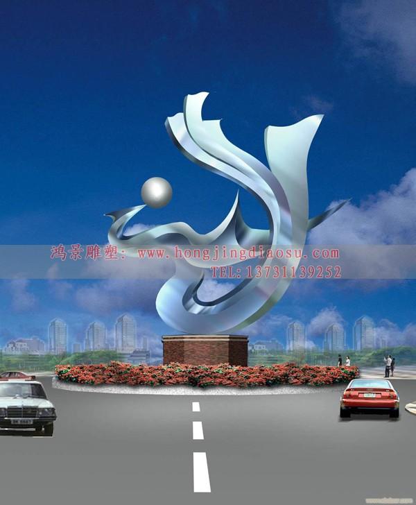 广场凤凰雕塑设计制作,不锈钢抽象雕塑